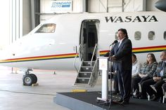 A 2010 celebration at Wasaya's hangar. #tbay