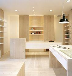 Dressler Papeteri shop in Germany with Dinesen Douglas cladding