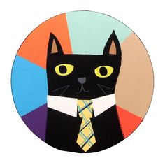 Boss Cat Mouse Pad | Kathleen Abbley