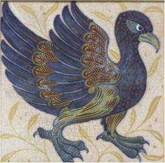 William De Morgan An `Exotic Bird' Lustre Tile, 1898 /BONHAMS