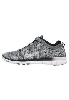 FREE TRAINER FLYKNIT - Zapatillas fitness e indoor - black/white/wolf grey