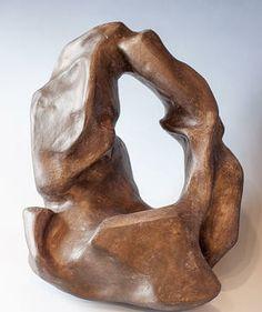 Lisa Patusky ceramic sculpture with acrylic