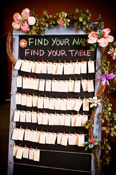 This website also has some creative ideas; however, my favorite is this DIY name tag/table display.