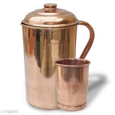 Water Bottles Classy Copper Kitchen Utilitiy  *Material* Copper  *Capacity* Water Jug -2 Ltr, Glass- 300 ml  *Description* It Has 1 Piece Of Jug & 1 Piece Of Glass  *Sizes Available* Free Size *   Catalog Rating: ★4 (138)  Catalog Name: Apex Copper Bottles & Jugs Vol 2 CatalogID_123355 C130-SC1644 Code: 695-1022210-