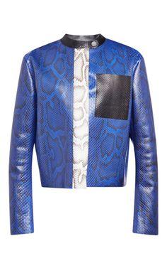 Cobalt Python Sb Jacket by Proenza Schouler for Preorder on Moda Operandi