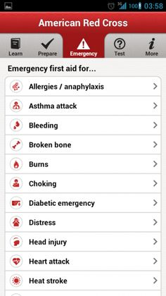 American Red Cross First Aid app is a good app to have around