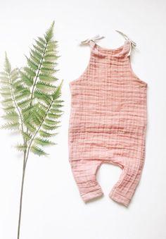 Handmade Gauze Baby Romper   AnchoreDeep on Etsy