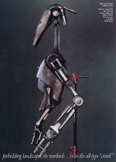 """Star Wars """"From a Distant Galaxy"""" A slimline battle droid from Attack of the Clones, photo by Annie Leibovitz for Vanity Fair March 2002 Star Wars Droides, Annie Leibovitz Photography, Edge Of The Empire, Fantasy Model, Battle Droid, War Film, The Phantom Menace, Geek Art, Star Wars Episodes"""