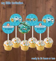 Octonauts Birthday Party Cupcake Toppers -- Printable - Digital File - Octonaut Cupcake Topper