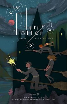 Flyer from the Harry Potter Tribute Exhibition by Ben Zhu of Nucleus Art Gallery