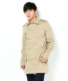 ライフスタイル(ライフスタイル)のコート - MINI(その他アウター)|ベージュ Beige Coat, Men Fashion, Raincoat, Jackets, Clothes, Tops, Beige Trench Coat, Moda Masculina, Rain Jacket