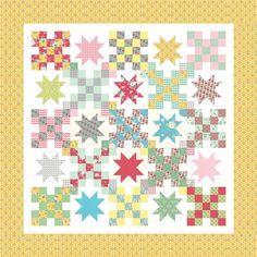 Free pattern @ Moda Bakeshop - Bumbleberries Quilt