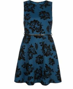 Blue Rose Flocked Belted Skater Dress>> another one too add to the shopping list.