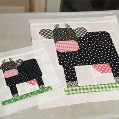 Mama and baby Mooooooooo. #cows #milkcowblock #daisycottagegoods #daisycottagequilting @beelori1 #farmgirlvintage
