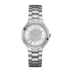 Guess Watch For Women * Shiny Silver Tone Stainless Steel Bracelet * Stainless Steel Watch, Stainless Steel Bracelet, Watches For Men, Guess Watches, Women's Watches, Michael Kors Watch, Gold Watch, Women's Accessories, Bracelet Watch