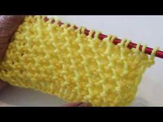 Puntada de Panal Tejida en dos Agujas - YouTube Knitting Videos, Knitting Stitches, Knitting Needles, Baby Knitting, Knitting Patterns, Cardigan Design, Some Body, Tunisian Crochet, Brand It