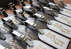 Bulk Order! And So the Adventure Begins | Luggage Tags | Bridesmaid Gifts | Wedding Favors for Guests | Travel Gifts | Party Favors | Wedding Gifts Bonded leather foil-stamped luggage tags make an amazing favor for your guests! This listing is an easy way for you to purchase our best-selling And So Wedding Gifts For Guests, Beach Wedding Favors, Wedding Favors For Guests, Unique Wedding Favors, Bridal Shower Favors, Party Favours, Elegant Wedding, Wedding Shoes, Wedding Reception