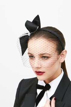 Lisa Tan Millinery | Nadine | Black and Headpieces | LOVEHATS.COM
