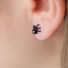 Mini Cool Spider Earrings Studs