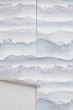 Wallpaper, Stirring Seas wallpaper, wallpaper design, Anna Badur, blue, calm