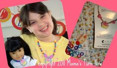 American Girl birthday party, make matching cupcake necklaces for girl and doll