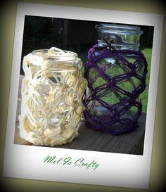 Crocheted Mason Jar Cover by MelIsCrafty on Etsy, $16.20