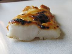 Miso-Glazed Cod from Food.com: This is the product of a tub of white miso that had sat too long untouched and some lovely cod fillets I got on sale today. Salty and a touch sweet. Very quick and easy to prepare, but elegant enough for a dinner party.