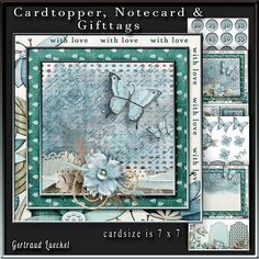 Cardtopper with inlet blue blooming 242 on Craftsuprint - View Now!