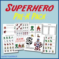 Superhero Pre-K Pack!  27 pages of Superhero learning and fun!