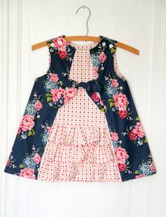 Girls Ruffle Dress PRINTED PATTERN: Ruby Ruffle Dress - Original Printed Sewing Pattern - Size 6 Month through 10 Years by The Cottage Mama