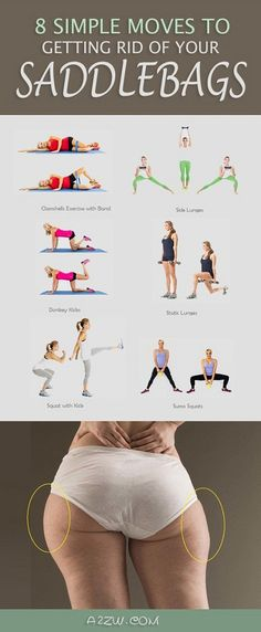 8 Simple Moves to Getting Rid of Your Saddlebags Saddlebags is the commonly given to deposits of fat located on the sides of the upper legs and the area directly below the