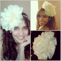 Jm Handmade chiffon flower  headband