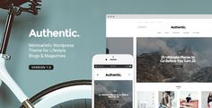 Authentic is a light & minimalistic WordPress theme perfect for lifestyle bloggers & magazines. It has so many amazing features that will make your blog or magazine stand out among others. Let your visitors enjoy the clutter free contemporaty design of your new website powered by Authentic. #WordPressTemplate #lifestyle #blog #webdesign