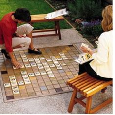 Love this huge outdoor scrabble game!