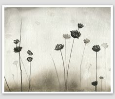 Gray Watercolor painting fine art print of by moonflowermuse