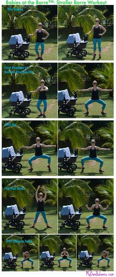 Babies at the Barre Stroller Barre Workout Lower Body Blast