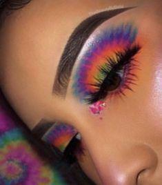 Ave & Lila Glitzer Lippen - Make up - Makeup Makeup Eye Looks, Eye Makeup Art, Colorful Eye Makeup, Crazy Makeup, Cute Makeup, Pretty Makeup, Skin Makeup, Eyeshadow Makeup, Eyeliner