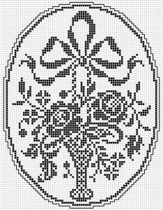 Oval 23 | Free chart for cross-stitch, filet crochet | Chart for pattern - Gráfico