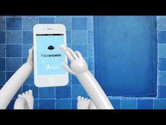 L'appli des toilettes! qui sauve des litres d'eau Et votre réputation... ;)   Akatu - Fake Shower - www.akatu.org.br