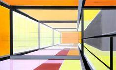 """Saatchi Art Artist Cécile van Hanja; Painting, """"Indoorspace"""" #art"""