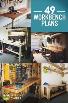 49-awesome-free-diy-workbench-plans-for-your-woodworking-projects More #woodworkingbench