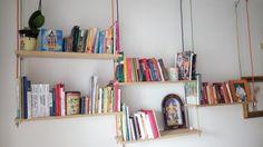Libreria sospesa cavi elettrici