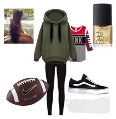 """""""Football game"""" by dara-fitzgerald ❤ liked on Polyvore featuring NIKE, Vans and NARS Cosmetics"""