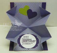 Squash Fold Card, Debbie's Designs
