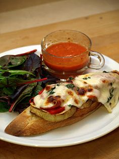 Roast Red Pepper and Eggplant Sandwich