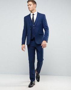 Burton Menswear Slim Suit in Navy