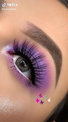 Purple Eye Makeup, Makeup Eye Looks, Eye Makeup Steps, Eye Makeup Art, Colorful Eye Makeup, Smokey Eye Makeup, Makeup Eyes, Blue Eyeshadow Makeup, Nyx Eyeliner