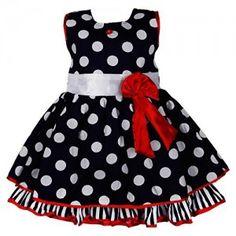 Wish-Karo-Polka-Dots-Cotton-Party-Wear-Frock-Girls-Dress-DN2125-0