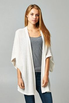 Love this knitted kimono from Raelyn Boutique!