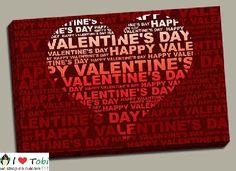 Tablou colaj Valentine's Day - cod B27 E Day, Cod, Valentines Day, Canvas, Happy, Valentine's Day Diy, Tela, Cod Fish, Canvases